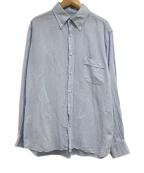 GUY ROVER(ギローバー)の古着「長袖リネン混シャツ」|スカイブルー
