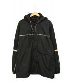 PUMA×LES BENJAMINS(プーマ×レスベンジャミンズ)の古着「コラボフーデッドジャケット」|ブラック