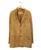 Ermenegildo Zegna(エルメネジルドゼニア)の古着「スウェードジャケット」 ベージュ