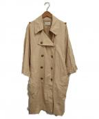 tsumori chisato(ツモリチサト)の古着「リネンミックストレンチコート」|ベージュ