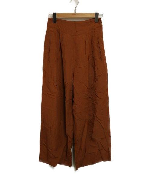RITO(リト)RITO (リト) タックワイドパンツ ブラウン サイズ:36の古着・服飾アイテム
