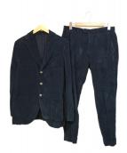 Santaniello(サンタニエッロ)の古着「セットアップコーデュロイスーツ」|ネイビー