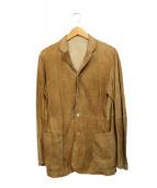 DRESSTERIOR(ドレステリア)の古着「ラムレザーテーラードジャケット」 ベージュ