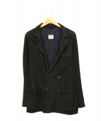 EMMETI(エンメティ)の古着「ダブルゴートレザージャケット」 ブラック