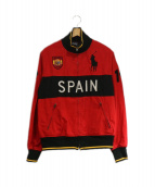 POLO RALPH LAUREN(ポロラルフローレン)の古着「ゲームトラックジャケット」|レッド