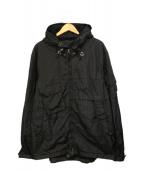 RLX RALPH LAUREN(アールエルエックスラルフローレン)の古着「フーデッドナイロンジャケット」 ブラック