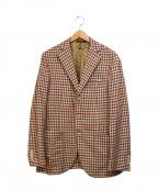 DEPETRILLO(デペトリロ)の古着「シルクウールテーラードジャケット」|レッド