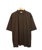 unfil(アンフィル)の古着「SUVIN cotton JERSEY polo shirt」|ブラウン