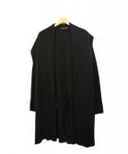 hannes roether(ハネス ルーザー)の古着「ガウンカーディガン」|ブラック