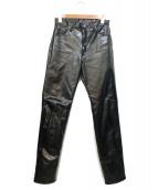 Wrangler(ラングラー)の古着「コーティングデニムパンツ」|インディゴ