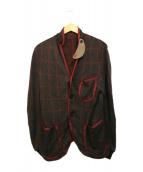sacai(サカイ)の古着「チェックジャケット」|ブラウン