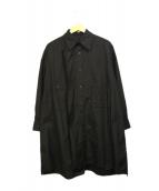 yohji yamamoto+Noir(ヨウジヤマモト プリュス ノアール)の古着「デザインビッグシャツ」|ブラック