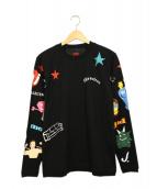 CPFM x MARC JACOBS(シーピーエフエム x マーク ジェイコブス)の古着「Tattoo Longsleeve T-Shirt」|ブラック