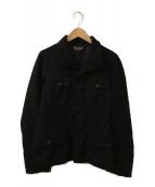 BLACK COMME des GARCONS(ブラックコムデギャルソン)の古着「縮絨ジャケット」|ブラック