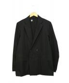 DESCENTE PAUSE(デサントポーズ)の古着「撥水ダブルジャケット」 ブラック