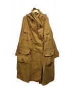 KAPITAL(キャピタル)の古着「カツラギ起毛トールリングコート」|ベージュ