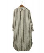 Plage(プラージュ)の古着「Linenシャツワンピース」|ホワイト