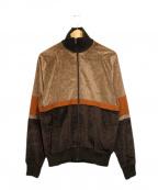 CMMN SWDN(コモン スウェーデン)の古着「ベロアトラックジャケット」|ブラウン