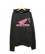 RHUDE(ルード)の古着「ヴィンテージ加工パーカー」|ブラック