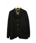 COMME des GARCONS HOMME DEUX(コムデギャルソン オム ドゥ)の古着「ポリエステル縮絨ジャケット」 ブラック
