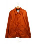 VANS(ヴァンズ バンズ)の古着「コーチジャケット」|オレンジ