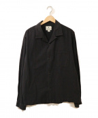 Snow peak(スノーピーク)の古着「オープンカラーシャツ」|ブラック