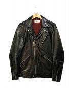 Sandinista×PHIGVEL(サンディニスタ×フィグベル)の古着「ホースハイドダブルライダースジャケット」 ブラック
