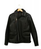 GARNI(ガルニ)の古着「ダブルライダースジャケット」 ブラック