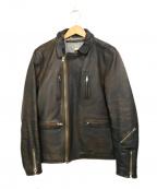 DELUXE(デラックス)の古着「ダブルライダースジャケット」|ネイビー