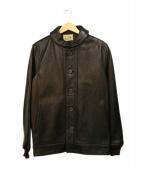 Varde77(バルデセブンティセブン)の古着「カウレザージャケット」|ブラック