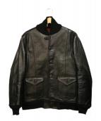 OLD JOE & Co.(オールドジョーアンドコー)の古着「ホースハイドジャケット」|ブラック