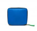 Wallet Comme des Garcons(ウォレットコムデギャルソン)の古着「二つ折りZIP財布」|ブルー