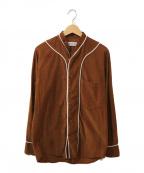 UMIT BENAN(ウミットベナン)の古着「コーデュロベースボールイシャツ」|ブラウン