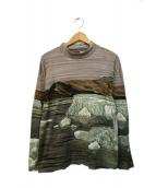 KENZO(ケンゾー)の古着「総柄ハイネックカットソー」|グレー