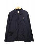 DANTON(ダントン)の古着「コットンポプリンカバーオールシャツ」 ネイビー