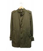 BURBERRY BLACK LABEL(バーバリーブラックレーベル)の古着「ステンカラーコート」|オリーブ