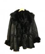 GIANNI LO GIUDICE(ジャンニ ロ ジュディチェ)の古着「ムートンコート」|ブラック