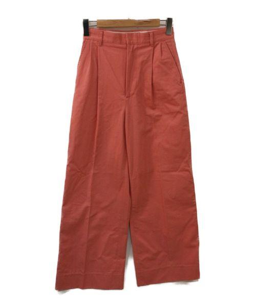 RUMBLE RED(ランブルレッド)RUMBLE RED (ランブルレッド) タックワイドパンツ ピンク サイズ:Sの古着・服飾アイテム