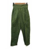 6(ROKU) BEAUTY&YOUTH(ロク ビューティアンドユース)の古着「SATIN LACEーUP PANTS」 グリーン