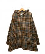 BARENA(バレナ)の古着「ベルト付フーデッドコート」|ブラウン
