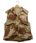 US ARMY(ユーエスアーミー)の古着「ミリタリーベスト」 ベージュ