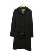 DOLCE & GABBANA(ドルチェアンドガッバーナ)の古着「ベルト付シングルコート」|ブラック