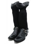 LIMI feu(リミフゥ)の古着「ニットブーツ」 ブラック