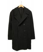 agnes b(アニエスベー)の古着「ウールダブルコート」|ブラック