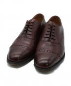 Lloyd footwear(ロイドフットウェア)の古着「パンチドキャップトゥシューズ」|バーガンディー