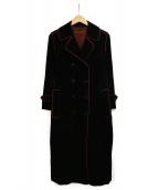 Yves Saint Laurent(イブサンローラン)の古着「古着コーデュロイコート」|ブラック