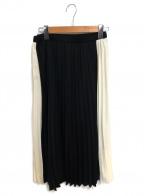 BARNYARDSTORM(バンヤードストーム)の古着「プリーツスカート」|ベージュ×ブラック