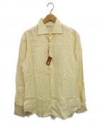 LORO PIANA(ロロピアーナ)の古着「リネンシャツ」 イエロー