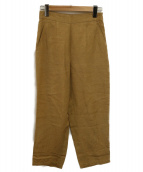 6(ROKU) BEAUTY&YOUTH(ロク ビューティアンドユース)の古着「SHEEN BELT PANTS」|ベージュ