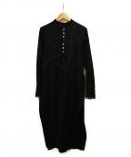 AKANE UTSUNOMIYA(アカネウツノミヤ)の古着「ウールシャツワンピース」 ブラック